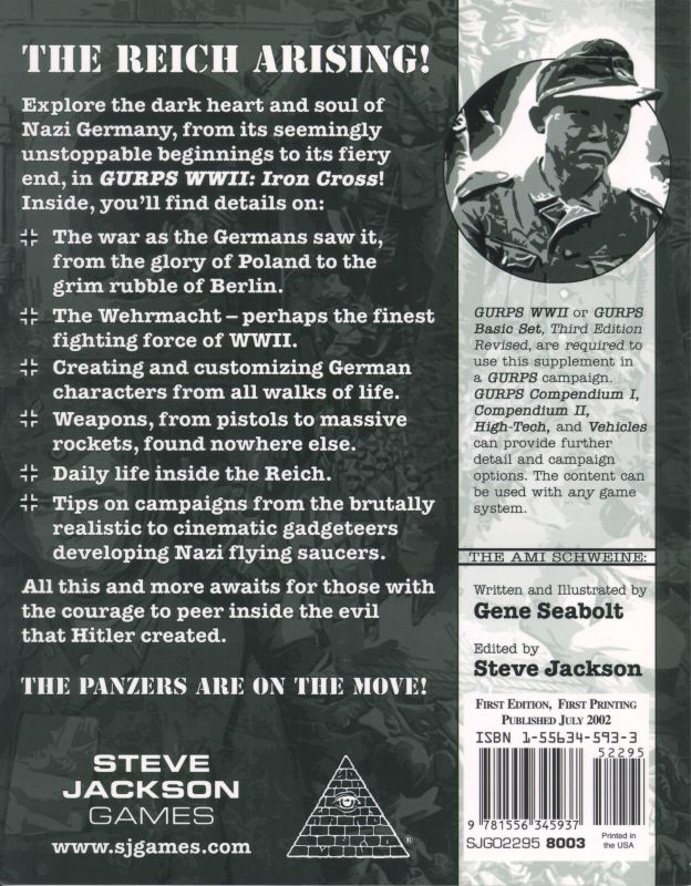 GURPS WWII: Iron Cross (Back)