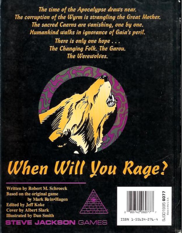 GURPS Werewolf: The Apocalypse (Back)