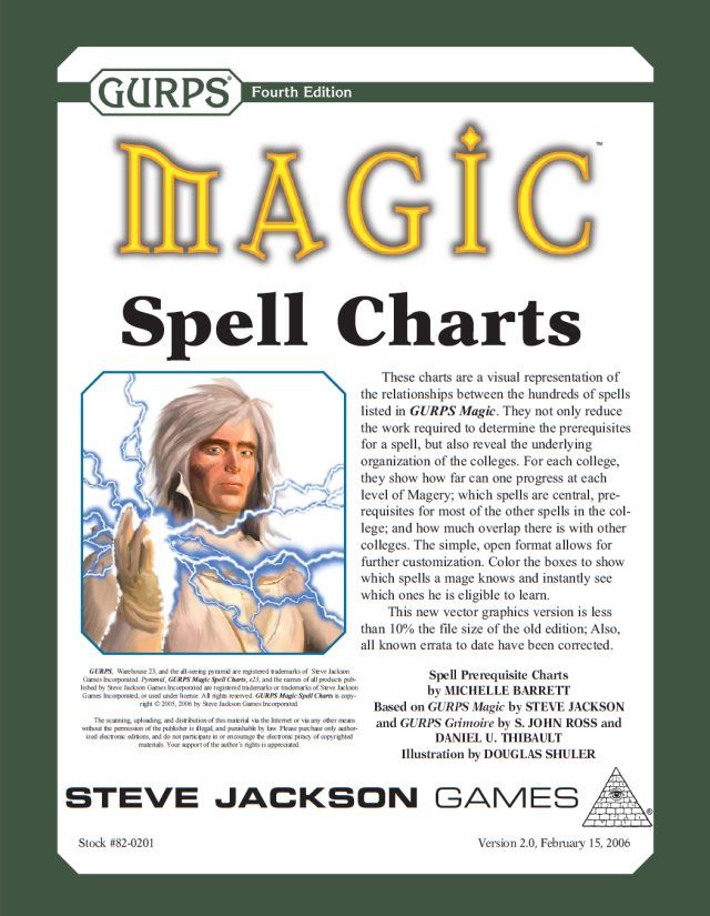 GURPS Magic: Spell Charts